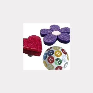 DECORATED RESIN KNOBS