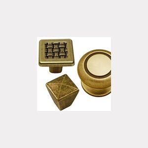BRASS AND AGED KNOBS