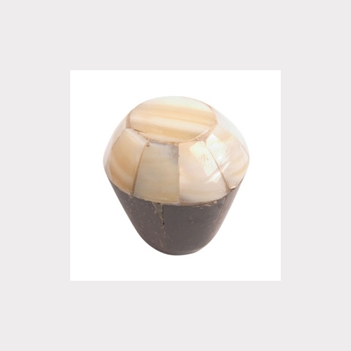 MOTHER OF PEARL & COCO FURNITURE KNOB. HANDCRAFT