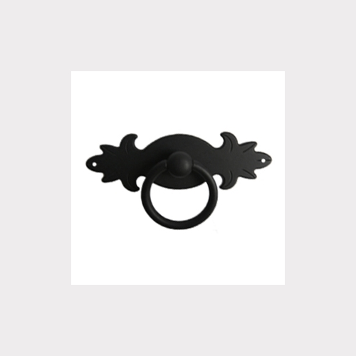 BLACK OXIDE HORIZONTAL RING DRAWER PULL FURNITURE HANDLE