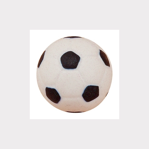 HAND PAINTED DULL PORCELAIN. BLACK BALL OF FOOTBALL CHILDREN KIDS DESIGN