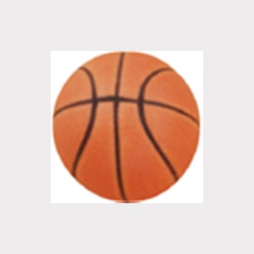 HAND PAINTED DULL PORCELAIN. ORANGE BALL OF BASKETBALL FURNITURE KNOB CHILDREN KIDS DESIGN