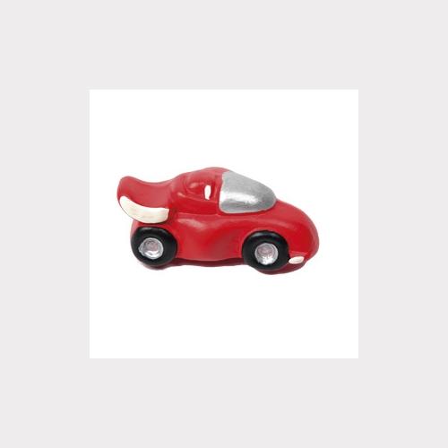 RED CAR. MATT CERAMIC. FURNITURE KNOB CHILDREN KIDS DESIGN