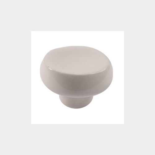 IVORY CERAMIC FURNITURE KNOB
