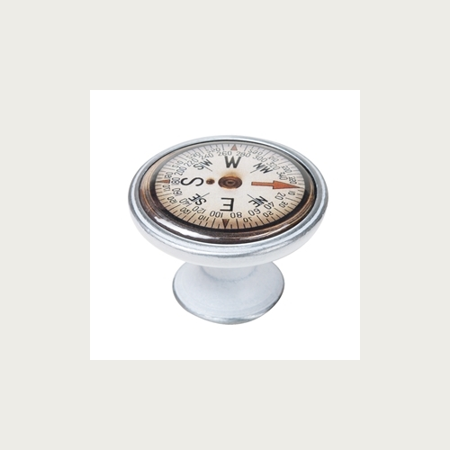 KNOB 37MM PATINATED SILVER COMPASS 3