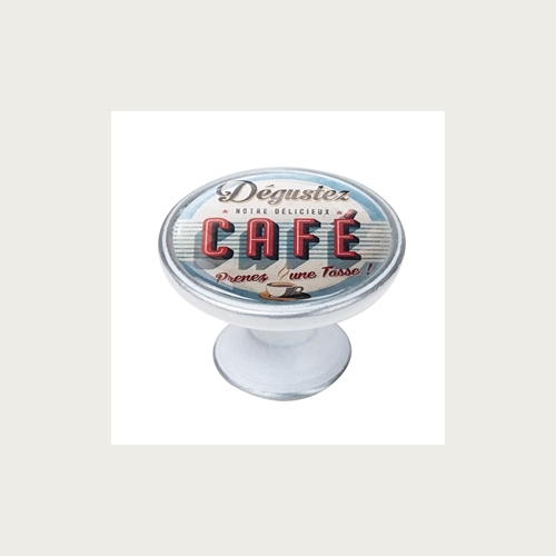 BOUTON 37MM ARGENT PATINÉE CAFE