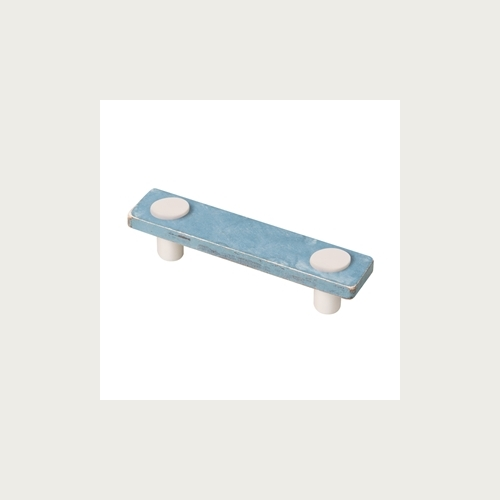 HANDLE 96MM WOOD BLUE SHABBY