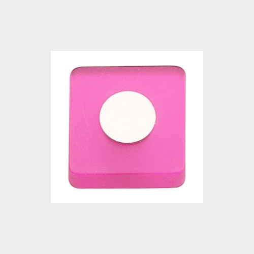 PINK FURNITURE KNOB WITH DULL CHROME FITTING YOUTH DESIGN