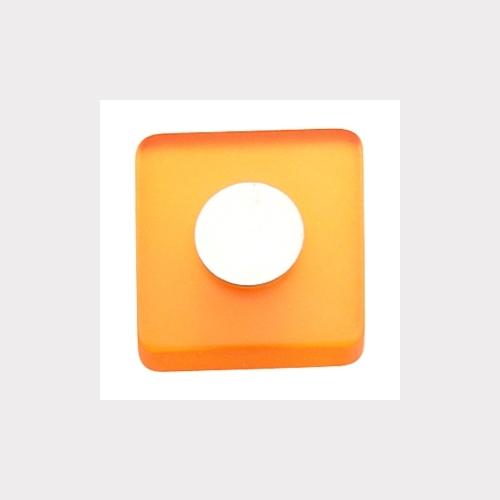 MÖBELKNOPF 30MM ORANGE - MATT CHROM