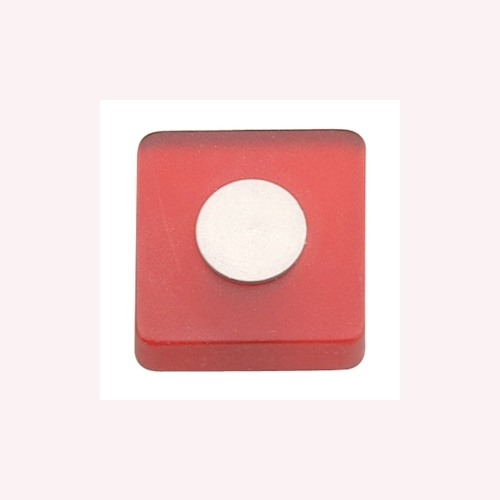 RED METACRYLATE KNOB WITH DULL CHROME FURNITURE KNOB YOUTH DESIGN