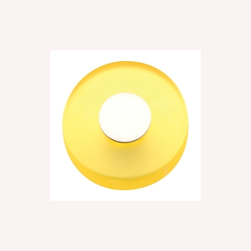 YELLOW METACRYLATE WITH DULL CHROME FURNITURE KNOB YOUTH DESIGN