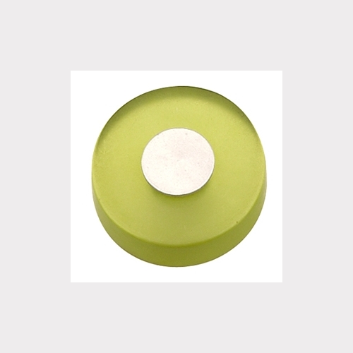 GREEN METACRYLATE WITH DULL CHROME FURNITURE KNOB YOUTH DESIGN