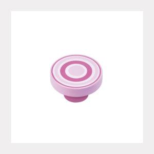 KNOB ABS CIRCLES PINK-MAGENTA