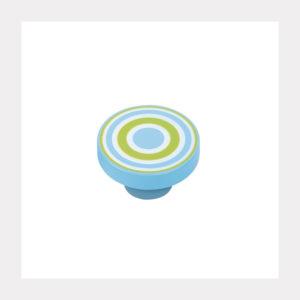 KNOB ABS CIRCLES GREEN-TURQUOIS
