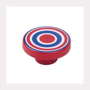 KNOB ABS CIRCLES BLUE-RED