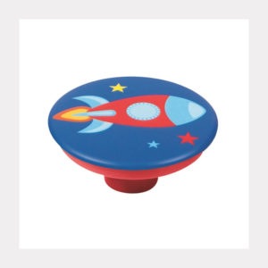 KNOB ABS WITH DESIGN ROCKET RED BASE