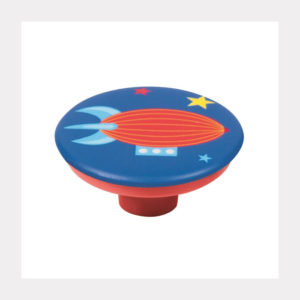 KNOB ABS WITH DESIGN ZEPELIN RED BASE