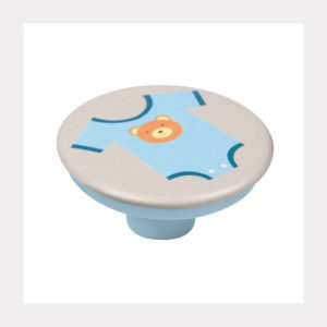 KNOB ABS WITH DESIGN BODY BABY BLUE GREY BASE