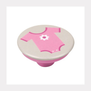 KNOB ABS WITH DESIGN BODY PINK GREY BASE
