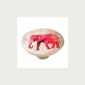 KNOB 50MM ABS WITH DESIGN RED ELEFANT