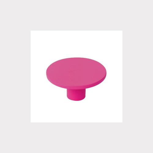 BOUTON DE MEUBLE ABS 40 MM TEINT. MAGENTA ROSE   DESIGN JEUNESSE