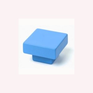 FURNITURE KNOB ABS 30X30 MM COLOUR BLUE YOUTH DESIGN