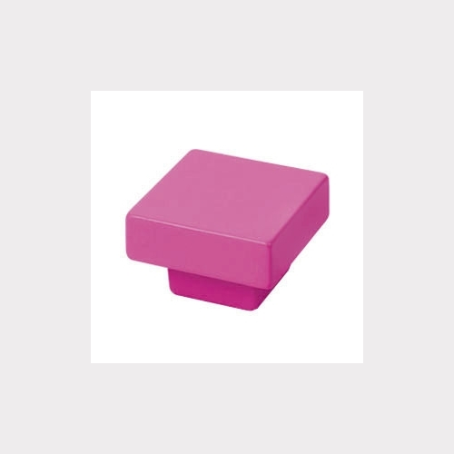 FURNITURE KNOB ABS 30X30 MM COLOUR PINK MAGENTA YOUTH DESIGN
