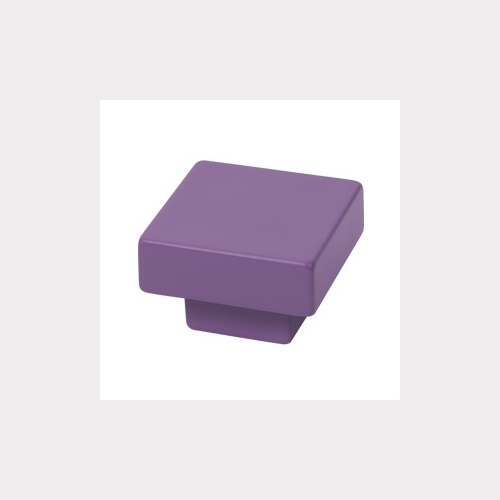 FURNITURE KNOB ABS 30X30 MM COLOUR VIOLET YOUTH DESIGN