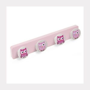 HANGER ABS PINK COLOUR  KNOBS OWLS