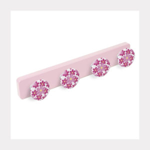 HANGER ABS PINK COLOUR  KNOBS PINK FLOWERS