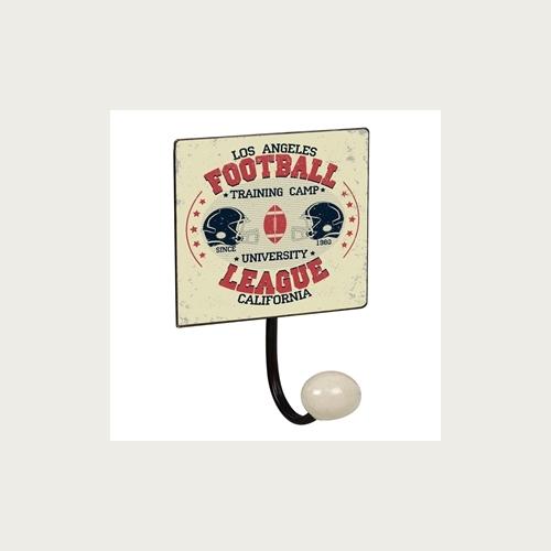 PERCHA PARED 1 POMO PORCELANA FOOTBALL 1