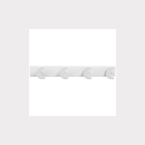 HANGER - 4 WHITE MOONS LACQUERED WOOD - WHITE BASE BABY BEDROOM