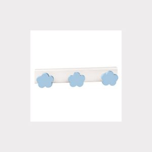 HANGER  CLOUDS SKY BLUE LACQUERED  WOOD