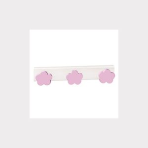 HANGER  CLOUDS PINKS LACQUERED  WOOD