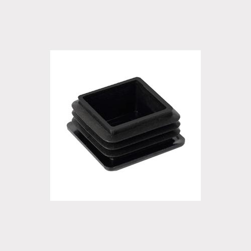 SET OF 4 FERRULES CAP PLUG 40MM INSIDE MOUNTING. BLACK PLASTIC FOR FURNITURE LEGS